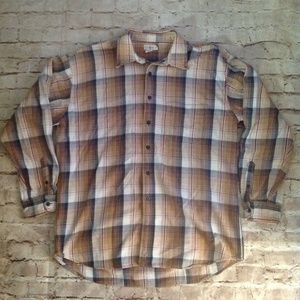J Crew Heavy Long Sleeve Plaid Checker Pattern EUC